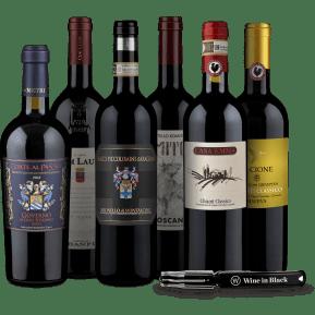 Wine in Black 'Best of Toskana'-Set + Gratis-Kellnermesser