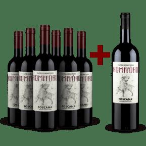 Castello Romitorio-Set 6 Flaschen 'RomiTòro' Toscana 2019 + 1 Gratis-Magnum 2018
