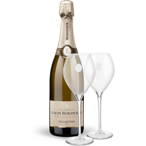 Champagne Louis Roederer 'Collection 242' Brut NV + zwei Champagner-Gläser