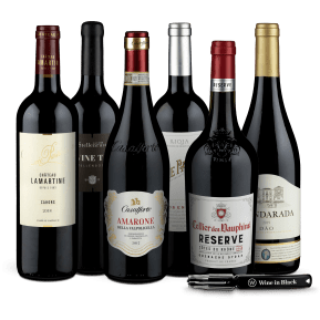 Wine in Black '94+Punkte'-Set + Gratis-Kellnermesser