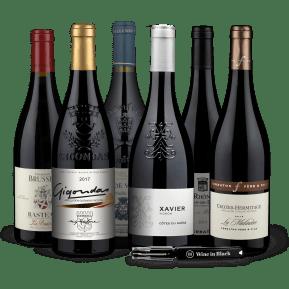 Wine in Black 'Rocking Rhône'-Set + gratis flesopener