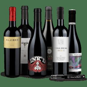 Wine in Black 'Outstanding Spanje' pakket + gratis flesopener