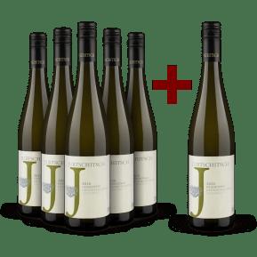 5+1-Set Jurtschitsch Grüner Veltliner 'Grashüpfer' 2020 - Bio