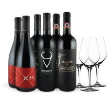 Exklusives Rotweinpaket mit 3 SPIEGELAU Gläsern