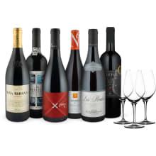 Offre 6 bt. 'Best-of rouges' Vignerons du mois 6 + 3 verres offerts