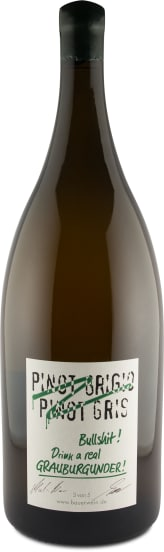 5 Liter-Flasche 'Pinot Grigio, Pinot Gris, Bullshit' Drink real Grauburgunder 2017