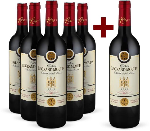 Offre '5+1' 'Collection Grande Réserve' Côtes de Blaye 2014