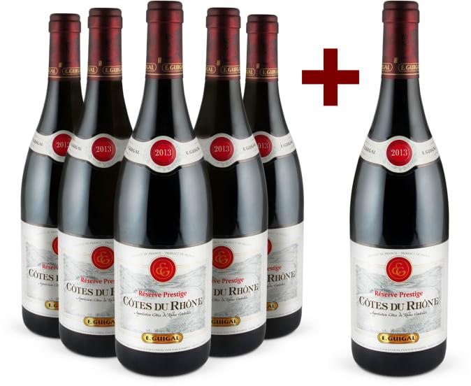 5+1-Set E.Guigal 'Réserve Prestige' Côtes du Rhône 2013