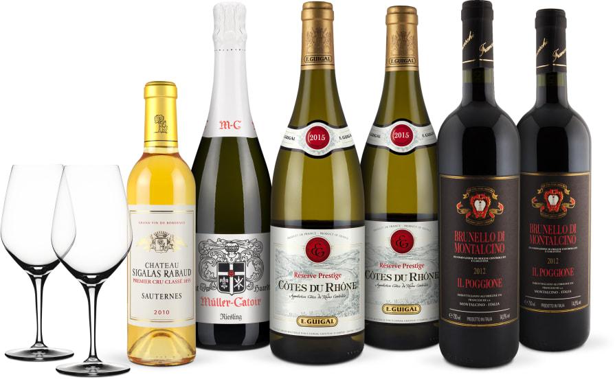 Wine in  Black 'Weihnachts-Dinner-Set' + 2 Gratis-Spiegelau-Gläser