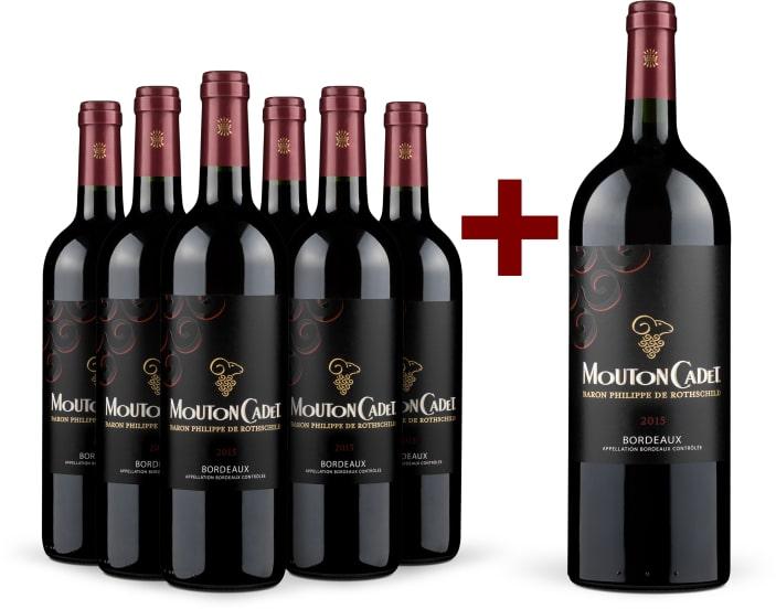 Offre '6 bouteilles' Mouton Cadet Rouge 2015 + Magnum offert