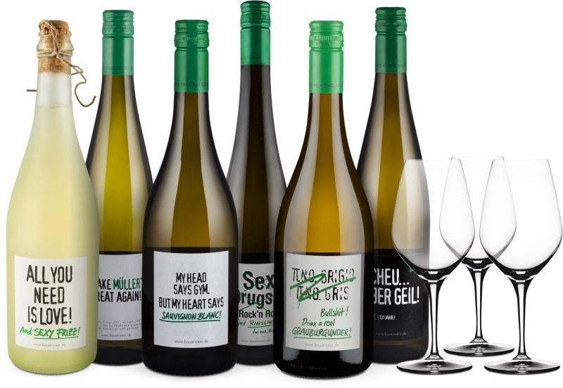 Wine in Black 'Power-Bauer-Brüder'-Set + 3 Gratis-Spiegelau-Gläser
