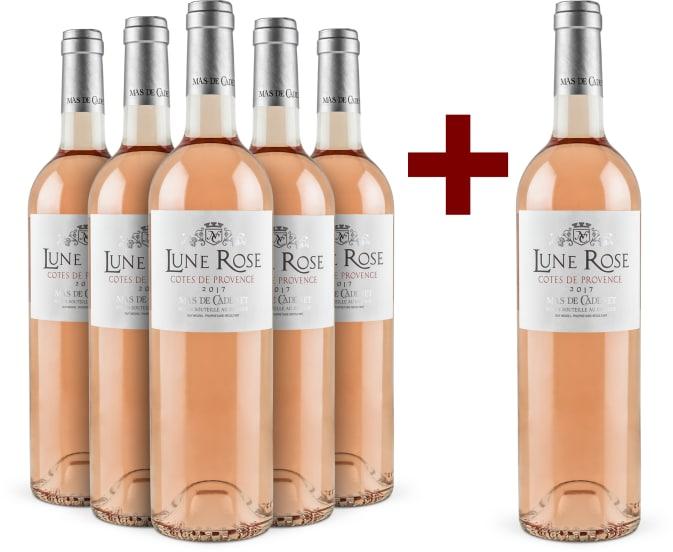 Offre 5+1 'Lune Rose' Côtes de Provence 2017