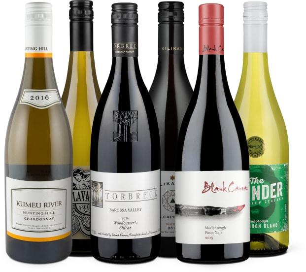 Wine in Black 'Kiwis contra Kangaroos-Set'