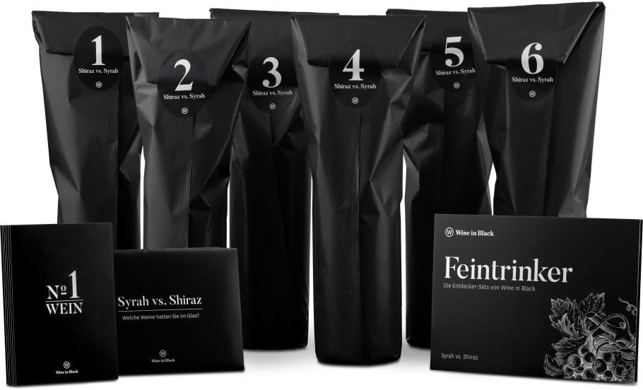 Wine in Black 'Tasting-Set Syrah vs. Shiraz'