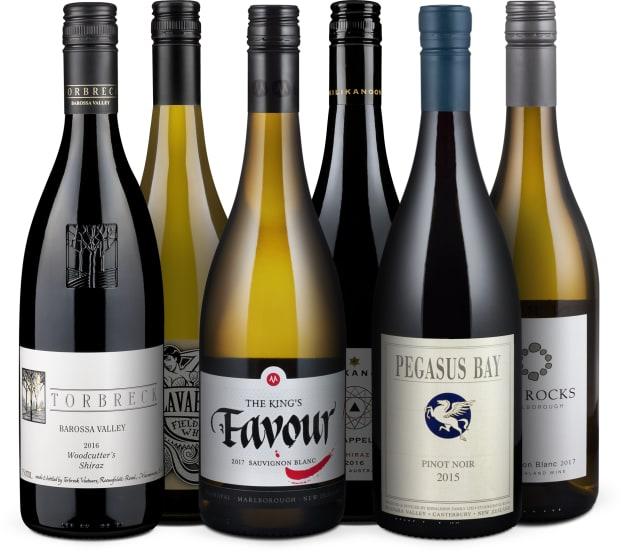Wine in Black 'Kiwis contra Kangaroos'-Set
