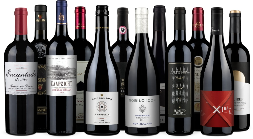 Wine in Black 'Bestseller-Rotwein-12er'-Set