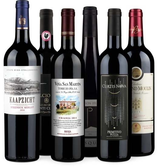 Wine in Black 'Bestseller-Rotwein-6er'-Set