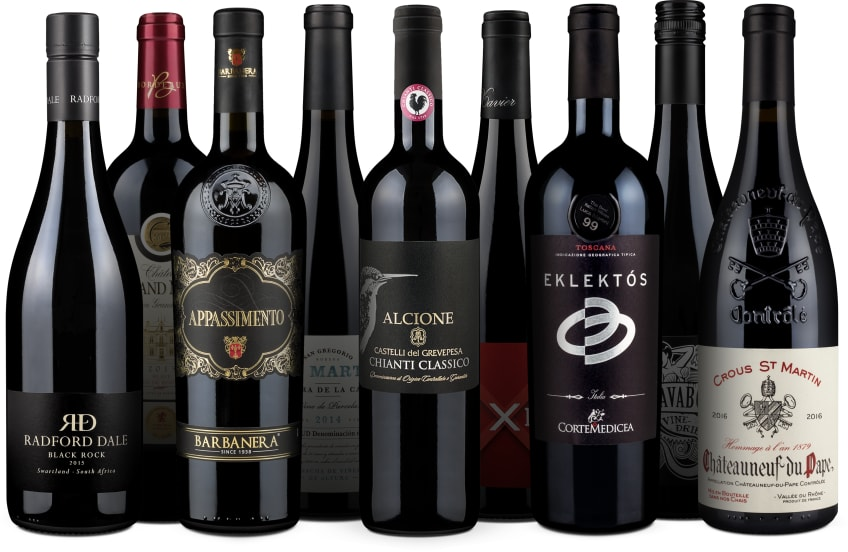 Wine in Black '9er-Rotwein-Favoriten'-Set 2018
