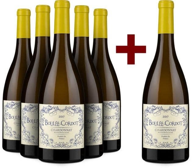 5+1-Set Les Producteurs Réunis Chardonnay 'Boulée-Cordot' 2017