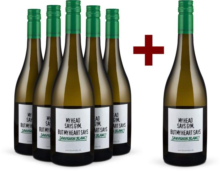 Offre 5+1 'My head says gym. But my heart says Sauvignon Blanc!' 2018