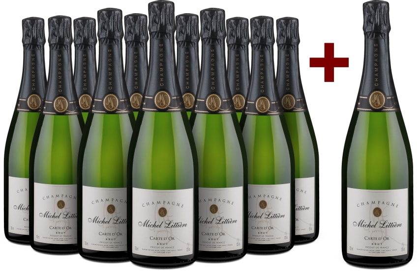 11+1-Set Champagne 'Carte d'Or' Brut