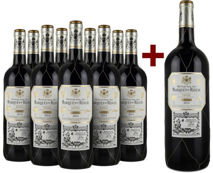9er+Gratis-Magnum-Set Rioja Reserva 2014