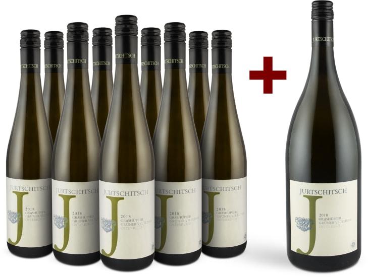 Grüner Veltliner 'Grashüpfer' 2018 '9 flessen + magnum' pakket