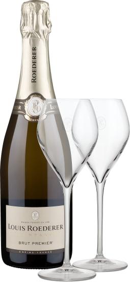 'Brut Premier' + twee champagneglazen