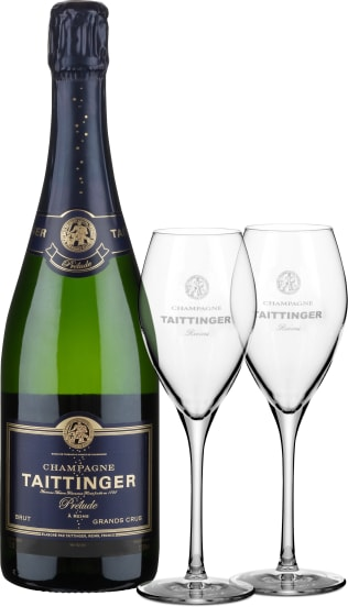 'Prélude' Grands Crus Brut NV  + 2 Gratis-Taittinger-Gläser