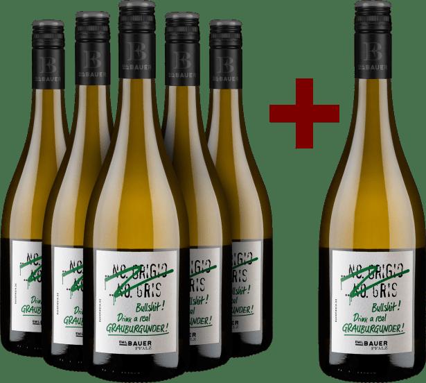 5+1-Set 'Pinot Grigio, Pinot Gris, Bullshit' Drink real Grauburgunder 2020
