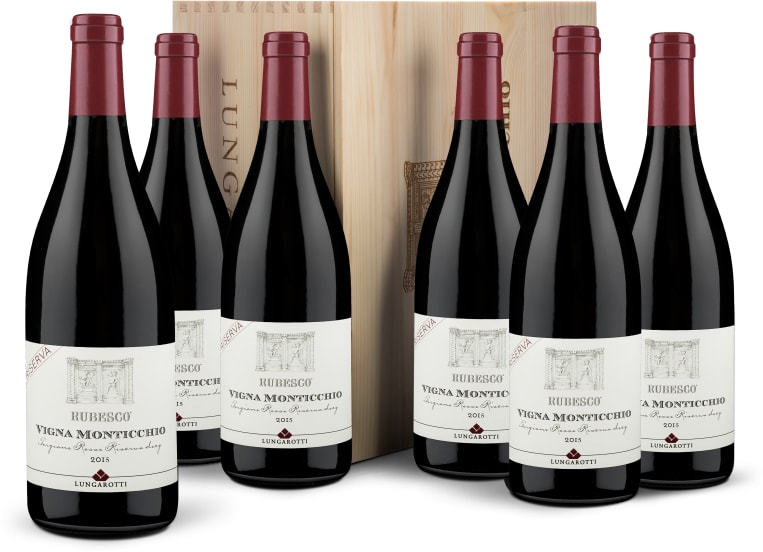 Caisse bois 6 bouteilles Riserva 'Vigna Monticchio' 2015