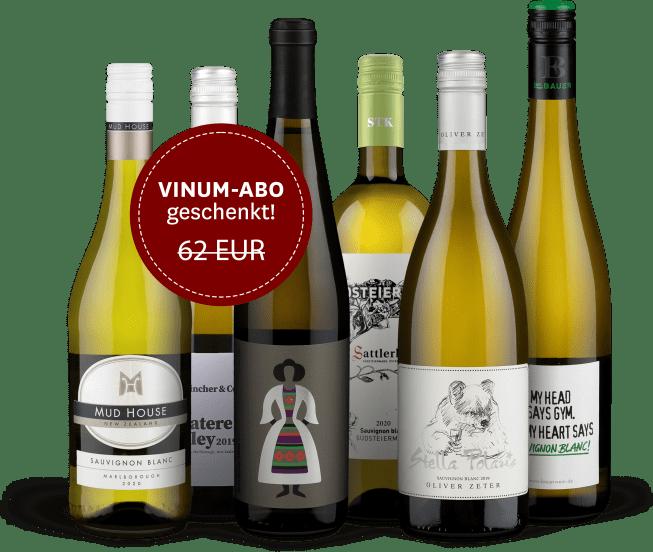Wine in Black 'Sauvignon Blanc Lover'-Set + VINUM-Abo
