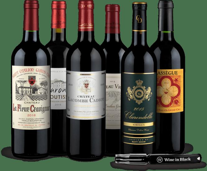 Wine in Black 'Tour de Bordeaux'-Set + Gratis-Kellnermesser