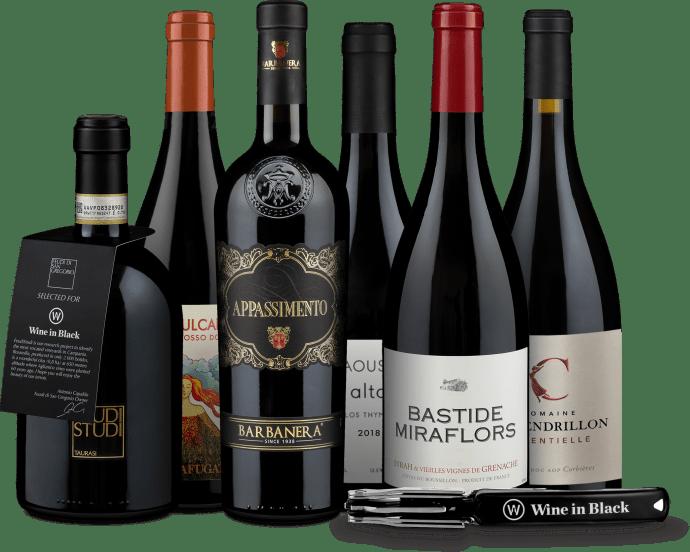 Wine in Black 'Mittelmeer-Rundreise'-Set + Gratis-Kellnermesser