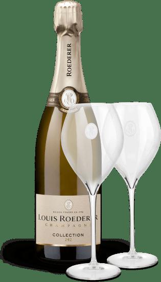 'Collection 242' Brut NV + zwei Champagner-Gläser
