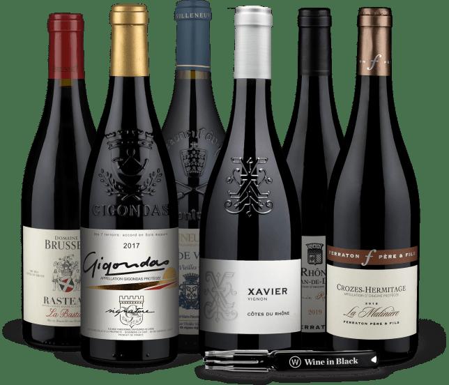 Wine in Black 'Rocking Rhône'-Set + Gratis-Kellnermesser