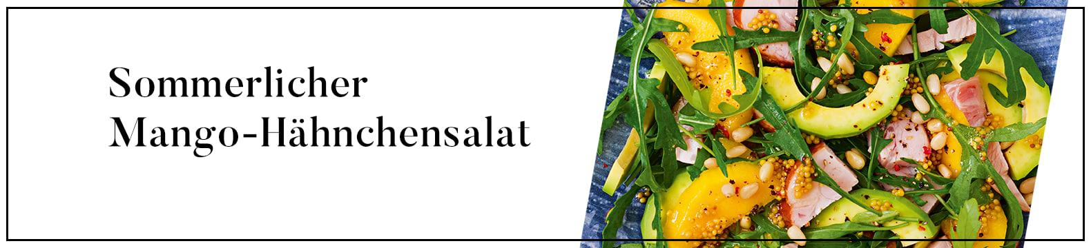 Sommerlicher Mango-Hähnchensalat