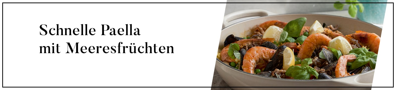 Schnelle Paella mit Meeresfruechten