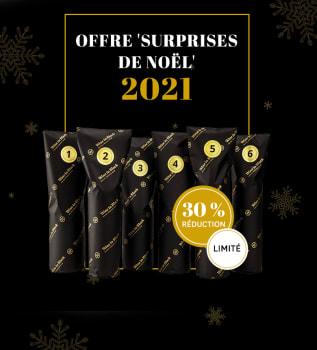 Six vins de l'offre 'Surprises de Noël' 2021