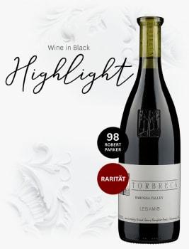 Wein-Highlight vor edlem Marmorrelief:  Torbreck Grenache 'Les Amis' Barossa Valley
