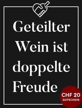 20 €-Gutschein geschenkt für Wein-Empfehlung