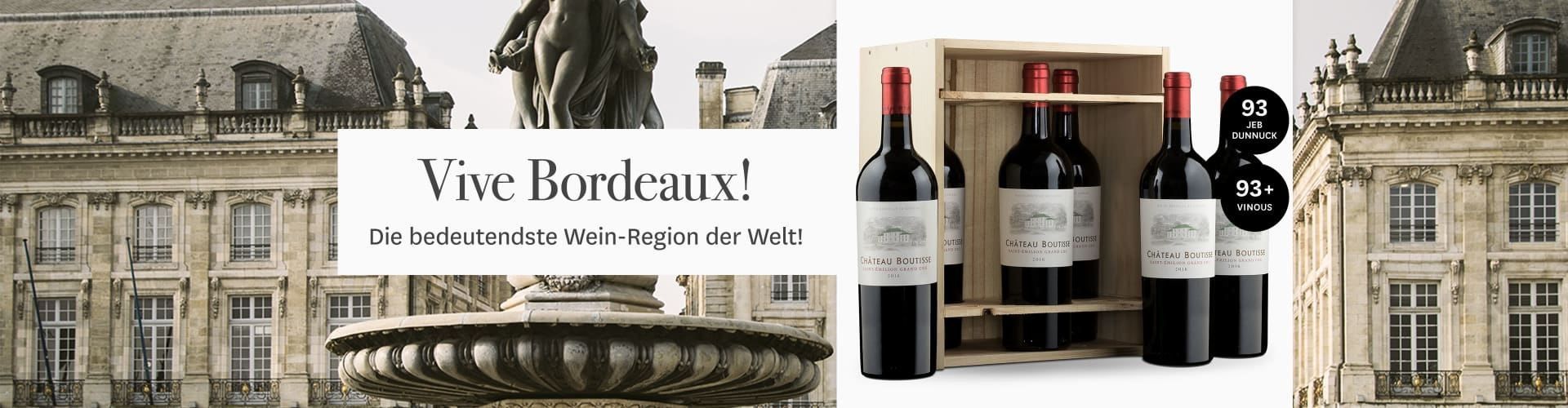 Bordeaux-Grand Cru in der Original-Holzkiste