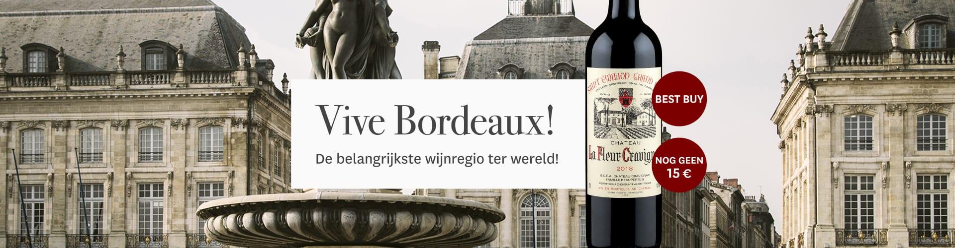 Onze actuele Bordeaux-wijn voor stadslandschap