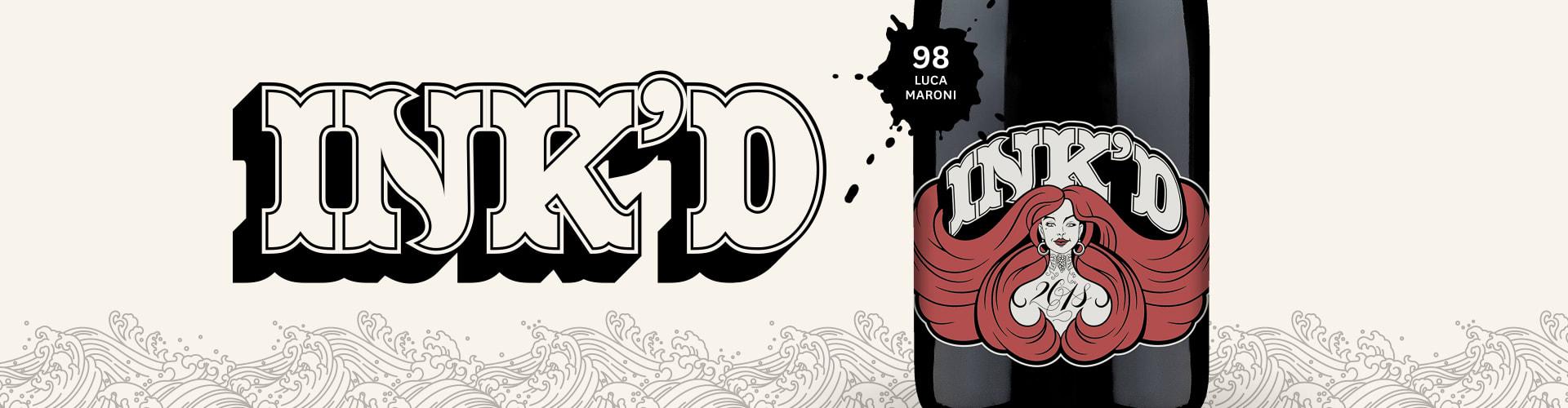 Vin espagnol exclusif de rockstar : 'Ink'd Red'