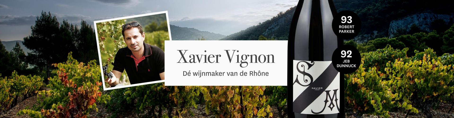 Landschap van Xavier Vignon en zijn Rhône wijnen