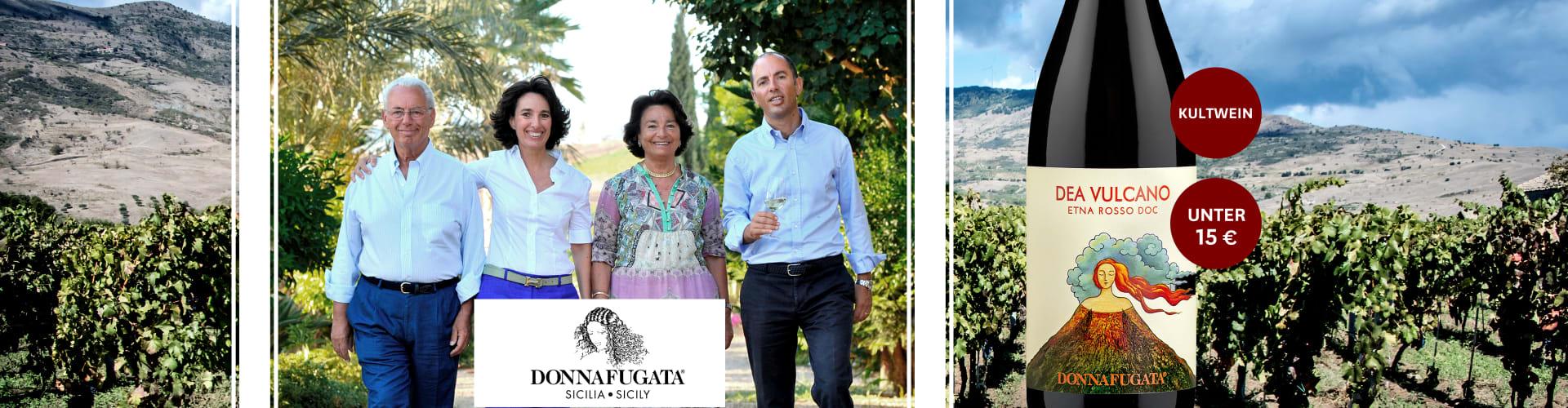 Die Rallo-Familie vom Weingut Donnafugata im Grünen