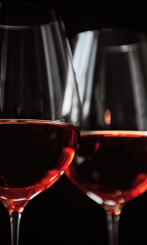 rode wijn, wein aus Frankrijk