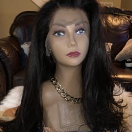 Long virgin hair 360 frontal