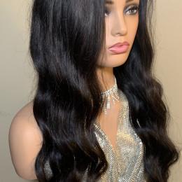 "24"" virgin human hair lace closure wig"