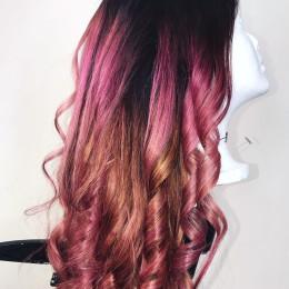 Rose Gold Wig